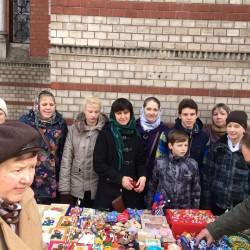Благотворительная ярмарка прошла в Вербное воскресенье в храме Знамения в Кунцево