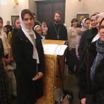Молодежный хор принял участие в Божественной литургии в храме праведного Иоанна Русского