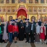 Молодежь храма Знамения приняла участие в молодежной литургии Западного викариатства
